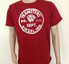 T Shirt New Men Diesel Industry Teamster Graphic Tee emblem red/blue in XL/XXL