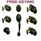Hensley Oil Rubbed Bronze Egg Door Knob Hardware Collection