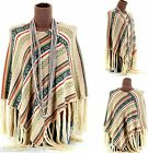 CharlesElie94 FABIOLA Women's Winter Knitted Poncho Cape Coat AU 10-20