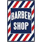 Vintage Striped Barber Shop Wall Decal