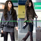 Fashion Women Loose Casual Knit Tops Sweater Batwing Long Sleeve Blouse T-Shirts