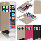 """PU Leather Flip Cover Case Folio Window View Stand Skin For iPhone 6 Plus 5.5"""""""