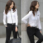 Women Fashion Button Down Shirt Casual Long Sleeve Slim T-shirt Tops Blouse NEW