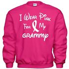 I Wear Pink For My GRAMMY  Breast Cancer Awareness Sweatshirt 8 Sizes