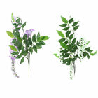 Fake Plant Wisteria Foliage Garland Faux Vine Plant Rattan Decoration