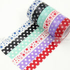 1X DIY Craft Washi Tape Polka Dots Decorative Paper Sticky Adhesive Sticker New
