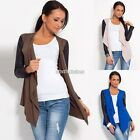 Women Cotton Synthetic Leather Sleeve Cardigan Jacket Style Sensible Hot N98B