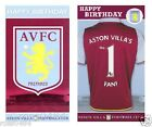 Aston Villa FC Birthday Card Badge Selection Gift