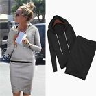Autumn Women Casual Hoodies Tops Sweatshirt Sweater Pencil Skirt Set 2pcs Suit