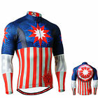 FIXGEAR_3701 mens team cycling jersey full zip BIKE mountain HERO shirts S~3XL