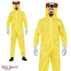 "FANCY DRESS COSTUME # MENS BREAKING BAD WALTER WHITE YELLOW HAZMAT SUIT 38""-48"""