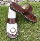100% MOROCCAN LEATHER  TOE POST SANDALS BROWN * 5 sizes available