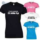 IT'S NOT A HANGOVER IT'S WINE FLU Funny T-Shirt Ladies LADY FIT New Gift Idea