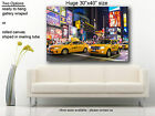 """Times Square  New york Huge canvas print 30""""x40 yellow cab"""