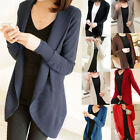 New Women Long Sleeve Knit Open Front Cardigan Jacket Jumper Sweaters  Red  Nice