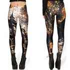 Women's Sexy Graphic Printe Pattern Stretch Elastic Punk Leggings Tight Pants