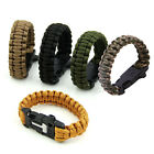 New Paracord Survival Bracelet Whistle Gear Kits Flint Fire Starter Scraper
