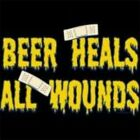 NEW FUNNY DRINKING T-SHIRT - Beer heals all wounds!