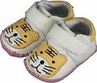 carozoo prewalker tiger white velcro soft sole leather baby/toddler shoes