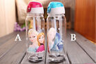 KIDS CHILDREN DISNEY FROZEN PRINCESS WATER SPORT BOTTLE WITH STRAW AND STRING