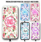 SHABBY CHIC Cunning VINTAGE RED PINK ROSE FLOWER MONOGRAM CASE FOR IPHONE 6 6S PLUS