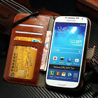 Genuine Real Leather Photo Flip Wallet Case Cover For Samsung Galaxy S4 i9500