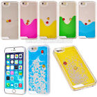 """Floating Dynamic Fish Quicksand Liquid Hard Clear Cover Case For iPhone 6 4.7"""""""
