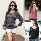 Women Fashion Loose Pullover Sweater Shirt Tops Blouse T-Shirt Casual Tops XXS~L