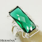 Hermosa New 925 Sterling Silver Genuine Gemstone Hot Emerald Green Topaz Rings