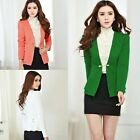 Hot Office Lady Women Blazer Slim Long Sleeve V-neck Tops Jacket Coat Outwear