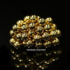 New Ladies Women Gold Plated Beads Ball Fashion Ring Made in Korea RG36