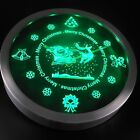 nc0366 Christmas Theme Santa Claus Reindeer Snow Gifts Neon Sign LED Clock
