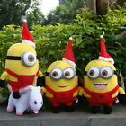 "Despicable Me 2 Plush Toy Christmas Minions Cuddly Stuffed Animal Doll 6"" & 9"""