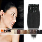 "22""24""26"" Real Thick Long Straight Full head clip in hair extensions 7pcs/8pcs"