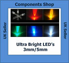 Ultra Bright LEDs 3mm/5mm Red,Blue,White,Green,Yellow