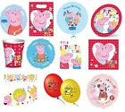 PEPPA PIG Partyware - Cups/Plates/Napkins/Foil Balloons (Kids/Birthday/Party)