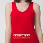Coming Soon movie Funny T-shirt Maternity Humor Baby Pregnancy Adult Tank Top