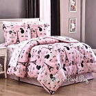 PARIS Chic EIFFEL TOWER French Poodle Teen Girls Pink Comforter Bed Set+Sheets