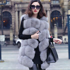 2015 Winter Coat Women Fashion real Fox Fur Vest High Grade Sleeveless coatV0061