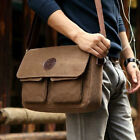 Solid Larger Vintage Canvas Hiking Travel Military Backpack Messenger Bag Nice