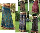 Long Skirt-Gypsy - Maxi -Boho-Summer-Lightweight-Peacock-Various Colours