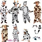 COW COSTUME KIDS BOYS GIRLS BOOK DAY NATIVITY FARMYARD ANIMAL SIZES 1-13 YEARS