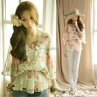 New Fashion Womens Floral Chiffon Tops Batwing Loose T-Shirt Blouse Tee ItS7