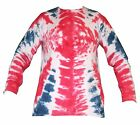 Long Sleeve, Union Jack, Tie Dye effect, super premium fruit of the loom.
