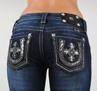 Miss Me Jeans Horseshoe Texas Royalty Sequined Leather Boot 25 26 27 28 29 30 31