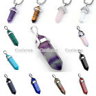 1pc Crystal Quartz Gemstone Gem Prism Healing Reiki Chakra Pendant For Necklace
