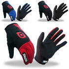 Black/Blue/Red New Men Sports Cycling Camping Bike Bicycle Full Finger Gloves ++