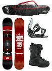 2015 FLOW MERC Black 162cm WIDE Snowboard+Flow Bindings+Flow BOA Boots+FLOW BAG