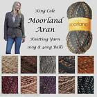 KING COLE MOORLAND ARAN KNITTING YARN 100G & 400G BALLS - FROM 33% OFF