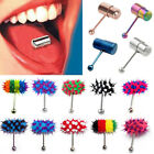 1Pc Colorful Koosh Vibrating Vibrate Tongue Bar Ring Stud Body Piercing 13Styles